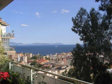 Panorama dalla terrazza del b&b Franca
